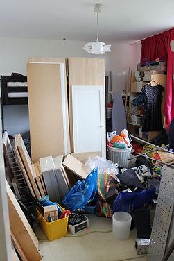 Chaos en troep in de slaapkamer