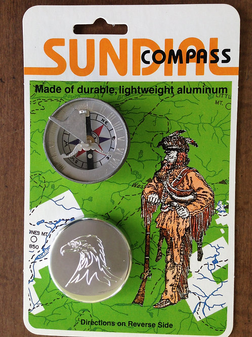 1750-AF  Sundial Compass, Aluminum_Frontier
