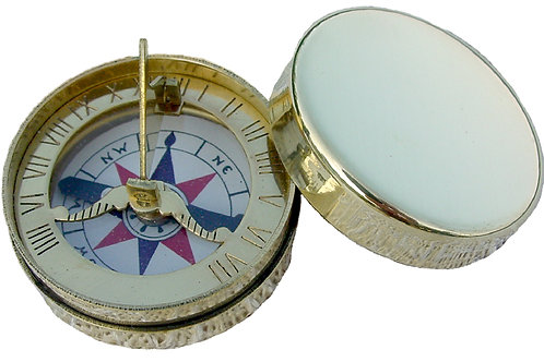 1750 Sundial Compass, Brass