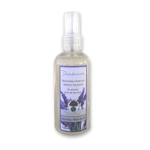 Desodorante Lavanda y Árbol de Té