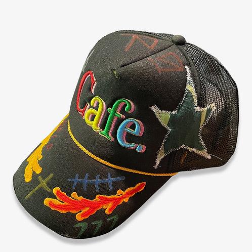 CAFE X REBIRTH STUDIOS -S2 Trucker Hat- BLACK / MULTI