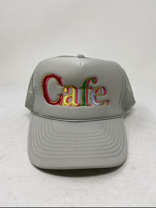CAFE - Essential Trucker Hat - SILVER LIMITED EDITION
