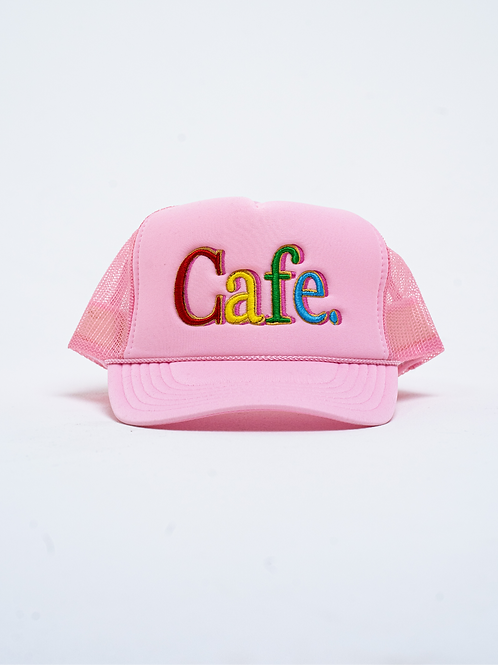 CAFE -S2 Trucker Hat- Baby Pink