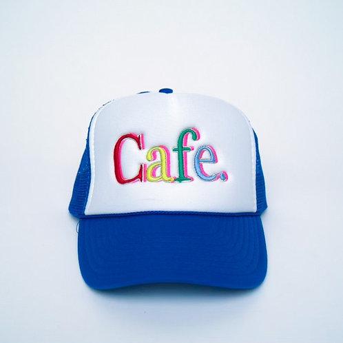 CAFE -S2 Trucker Hat- White/Blue