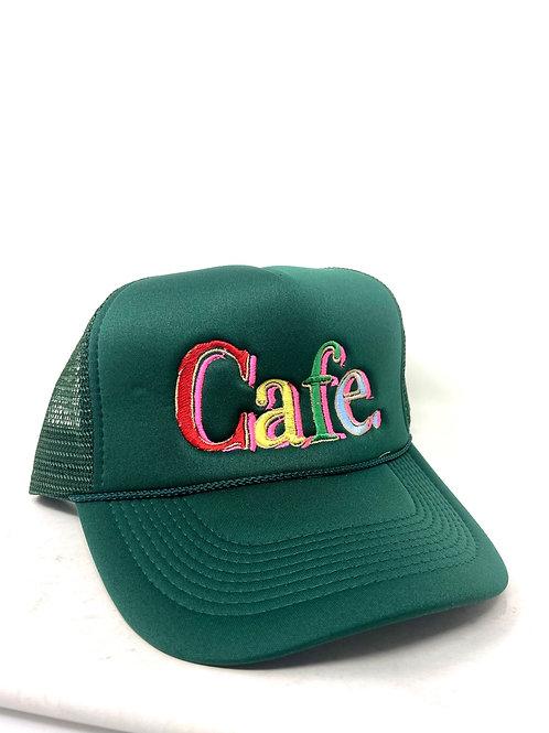 CAFE- - Essential Trucker Hat - Forest Green