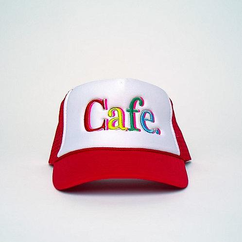 CAFE -S2 Trucker Hat- White/Red