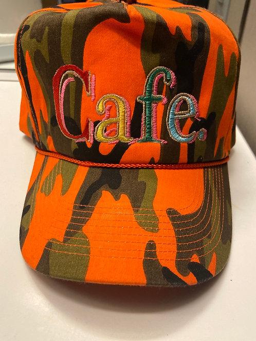CAFE-  SPECIAL EDITION Trucker Hat - ORANGE CAMO