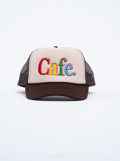 CAFE -S2 Trucker Hat- Cream/Brown