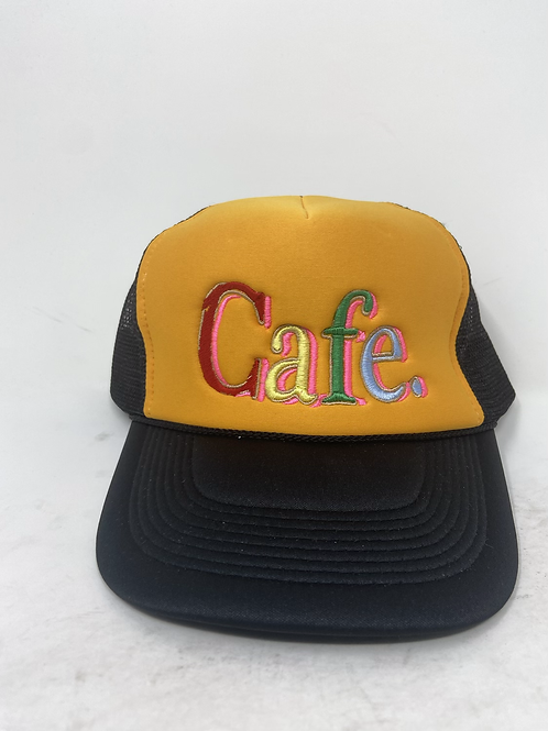 CAFE - Essential Trucker Hat - Yellow /Black