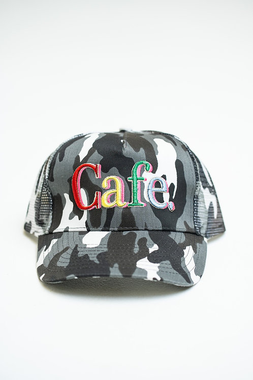 CAFE -S2 Trucker Hat- Snow Camo