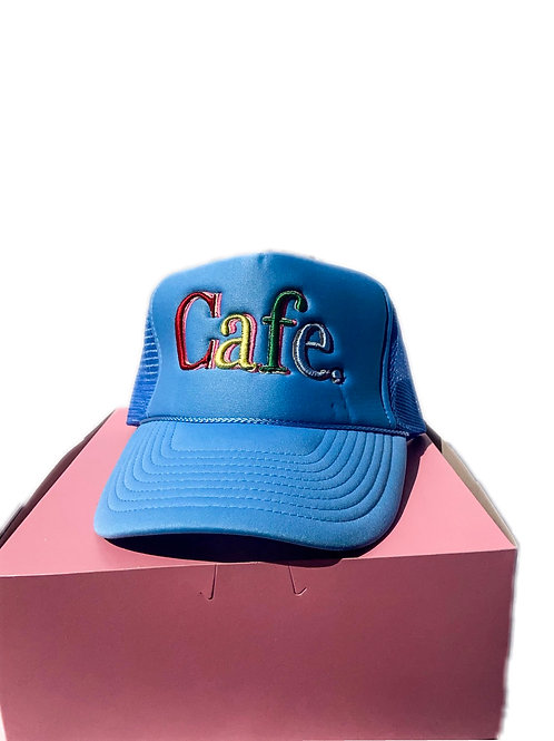 CAFE -S2 Trucker Hat- Baby Blue