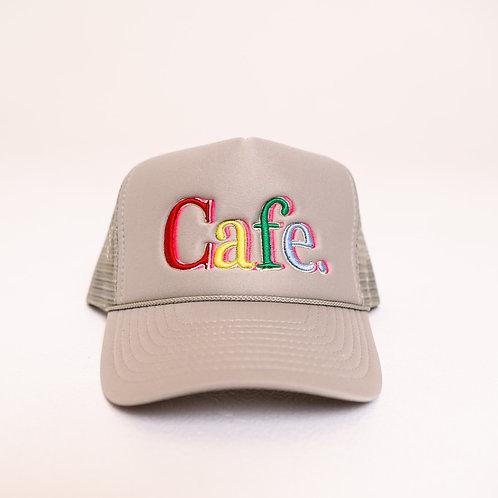 CAFE -S2 Trucker Hat- Light Grey