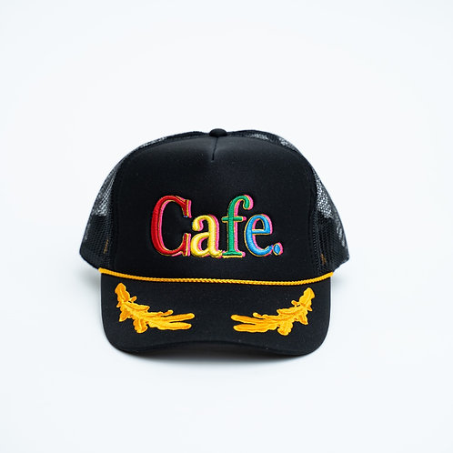 CAFE -S2 Trucker Hat- LIMITED EDITION GENERAL BLACK
