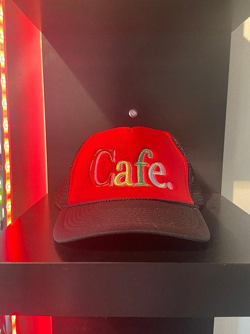 CAFE - Essential Trucker Hat - Red/Black