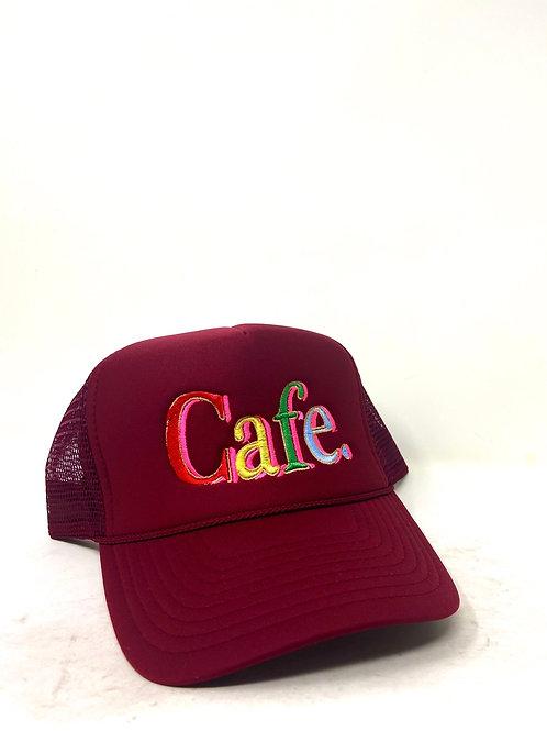 CAFE- Essential Trucker Hat - Maroon