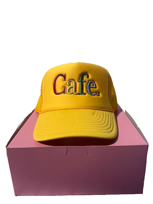 CAFE -S2 Trucker Hat- Mustard Yellow