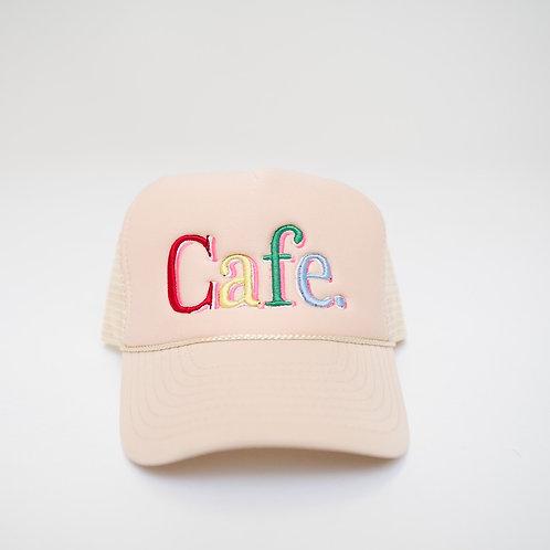 CAFE -S2 Trucker Hat- Cream