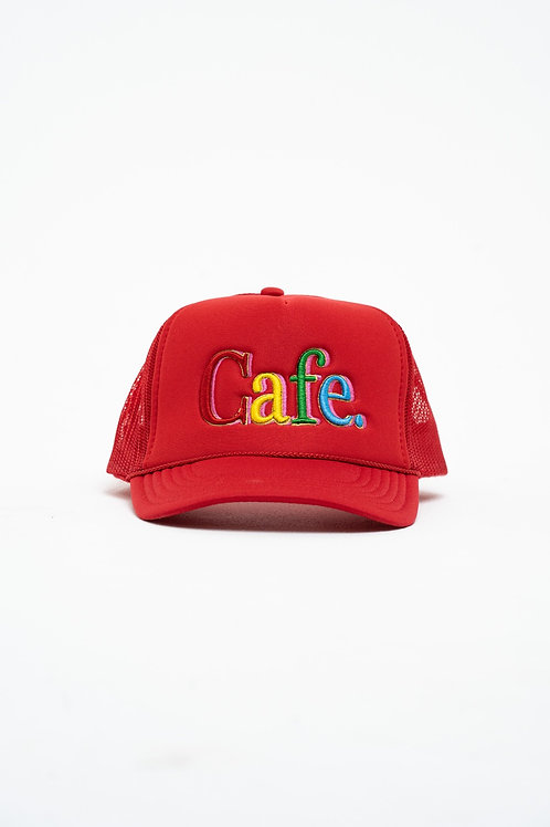 CAFE -S2 Trucker Hat- Red