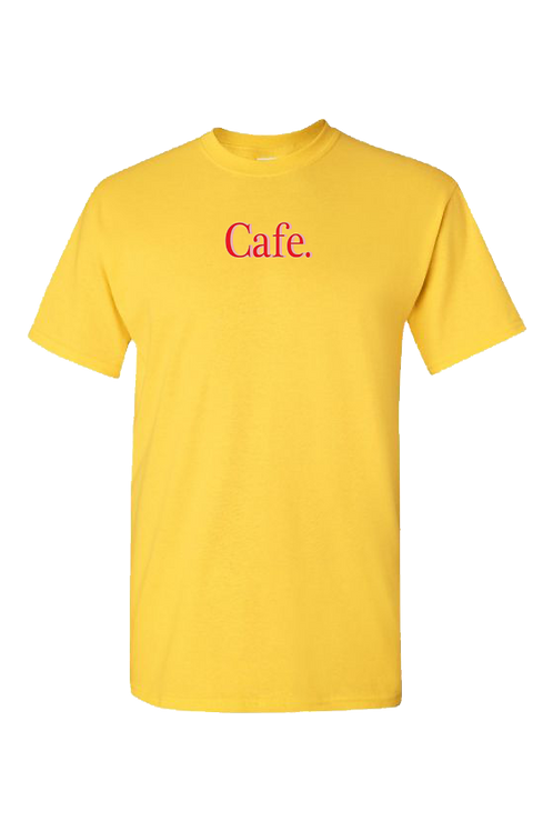 CAFE - Essential Logo Tee - Yellow