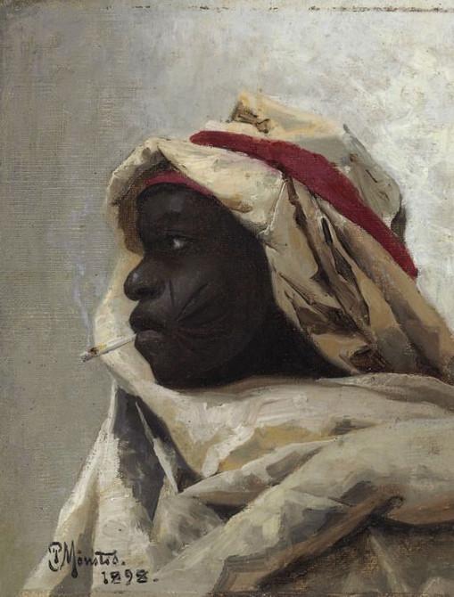 The_Smoking_Moor,_1898,_Peder_Mørk_Mønst