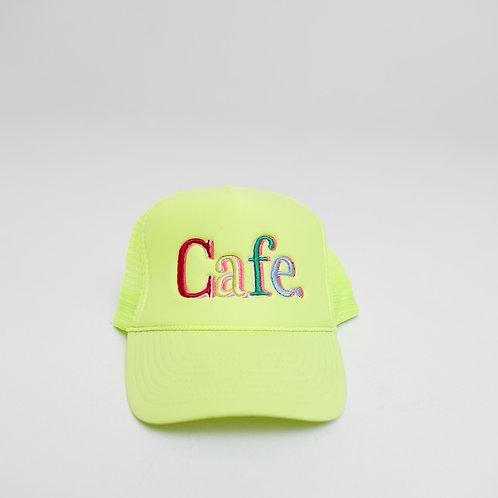 CAFE -S2 Trucker Hat- Lemon Lime