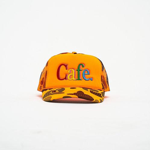CAFE -S2 Trucker Hat- Orange Camo