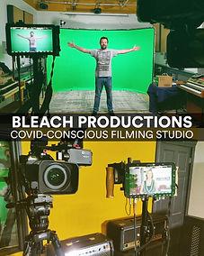 Bleach Productions - Studio 1 green screen filming