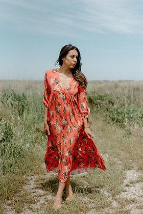 Maxi dress Baya Corail