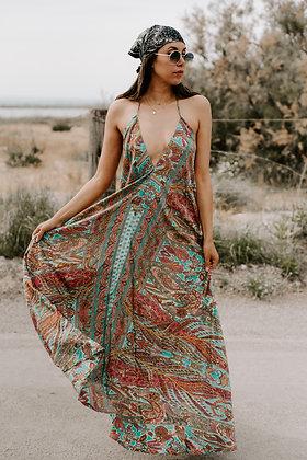 Maxi dress dos nu Laya India