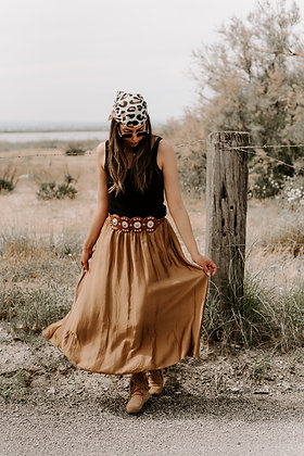 Falda Raya Caramel