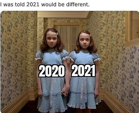 Covid 2020 to 2021 Meme