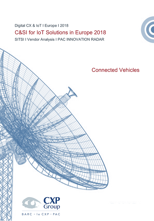 C&SI for IoT Solutions in Europe - Connected Vehicles