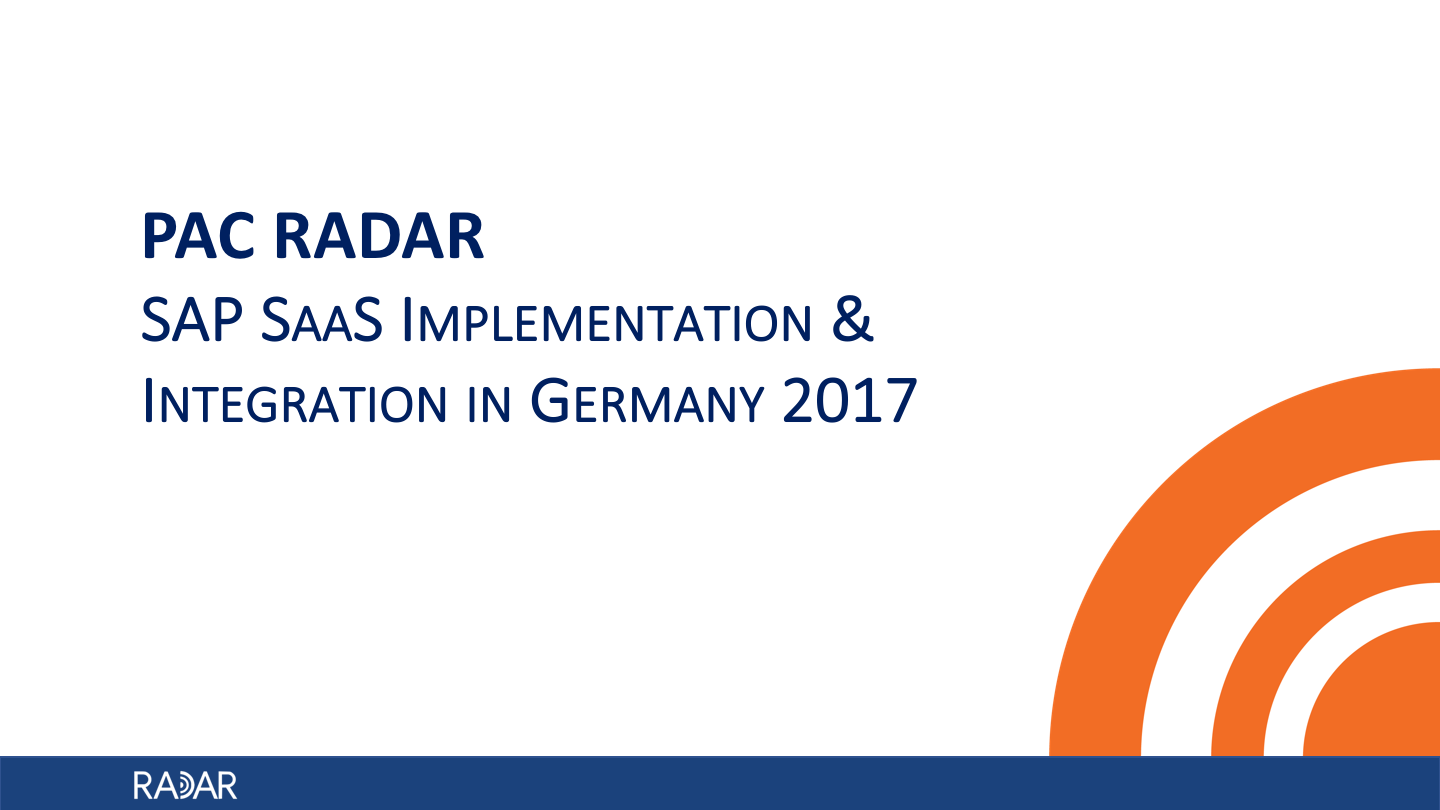 SAP SaaS Germany 2017