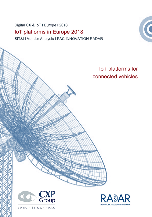 IoT Platforms for Connected Vehicles in Europe 2018