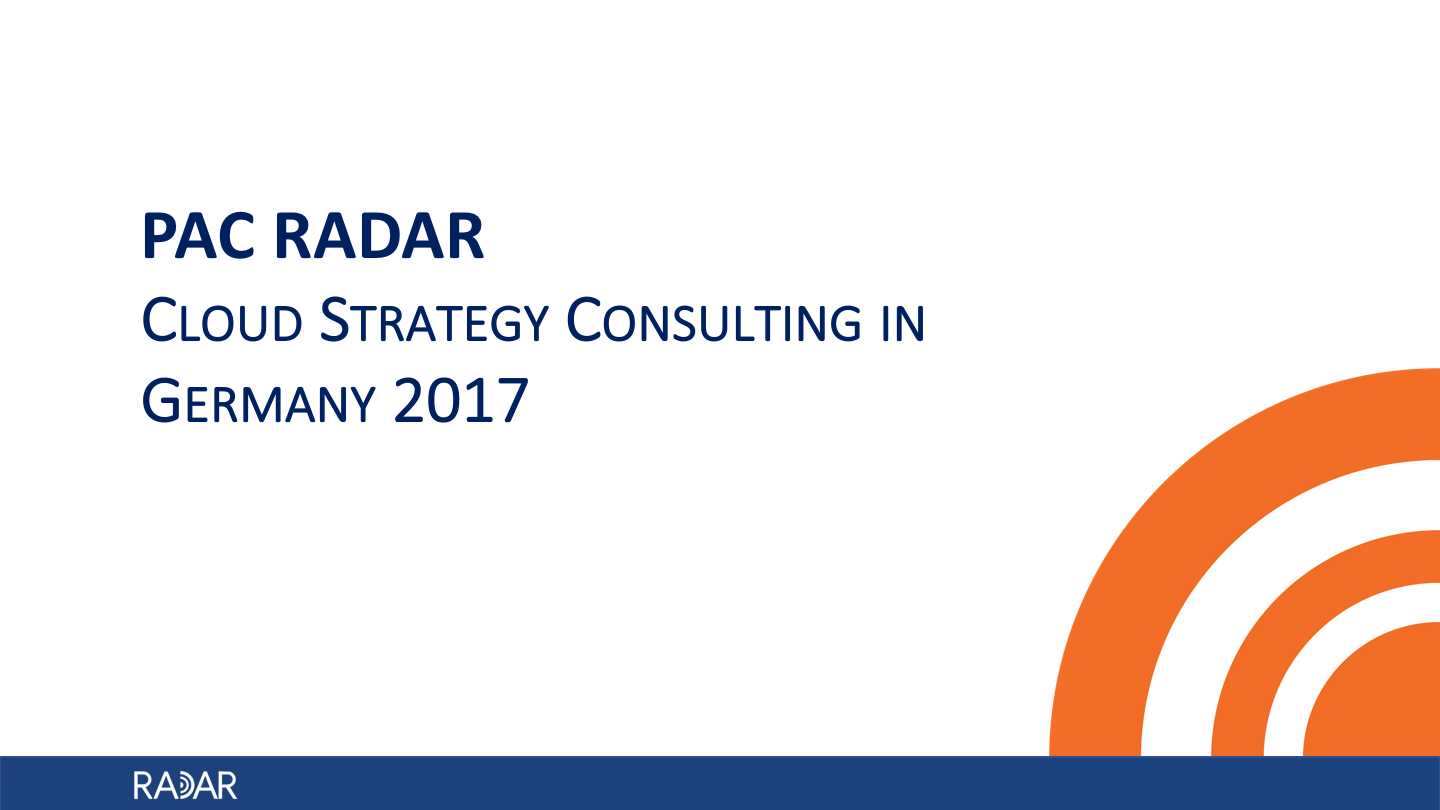 Cloud Strategy Germany 2017