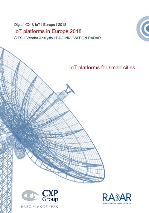 IoT Platforms for Smart Cities in Europe 2018