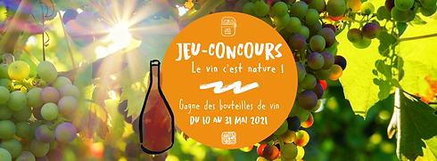 Bannière site Jeu concours Le vin c'est nature - Cafi Social Club.png