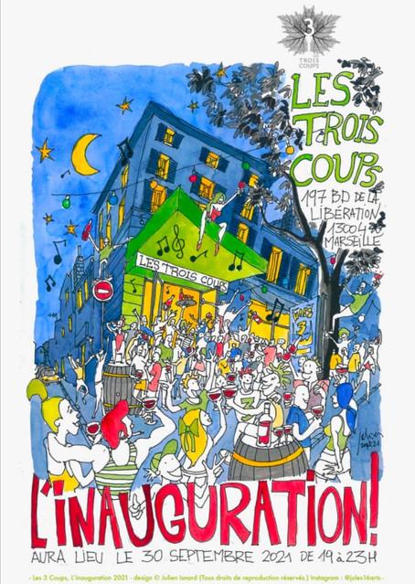 La cave Les Trois Coups : une inauguration qui n'augure que du bon !