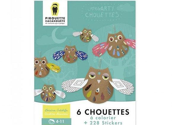 Kit créatif Chouette - Dès 5 ans - Pirouette-Cacahuète
