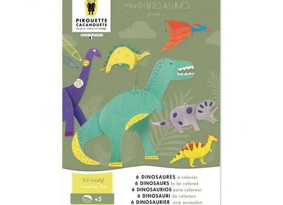 Kit créatif dinosaures - Dès 5 ans - Pirouette-Cacahuète