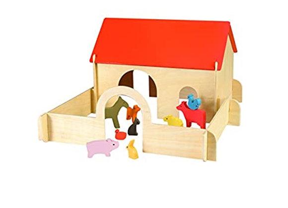 La ferme et ses animaux en bois