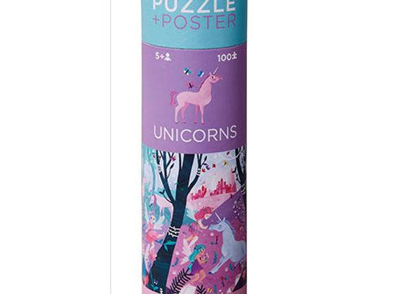 Puzzle 100 pièces Licornes - Crodocile Creek