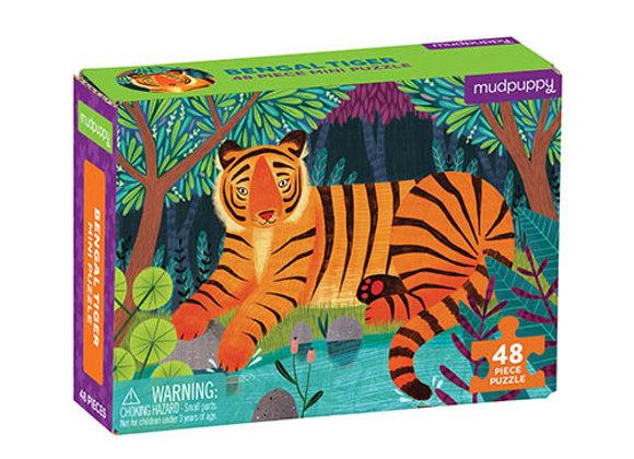 Mini Puzzle 48 pièces Tigre du Bengale - Mudpuppy