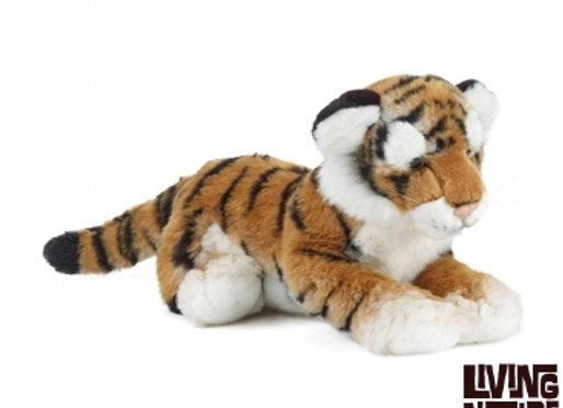 Peluche tigre couché 35 cm Living nature