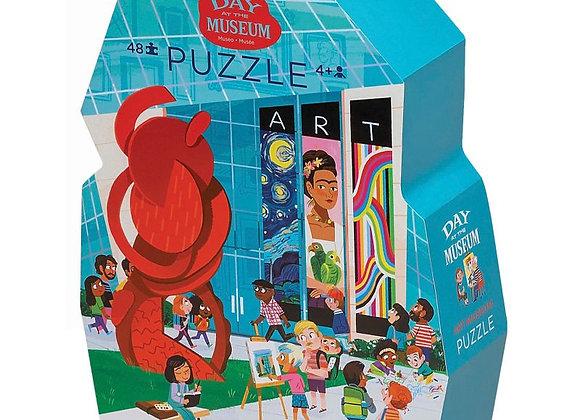 Puzzle 48 pièces Une journée au musée d'art - Crocodile Creek