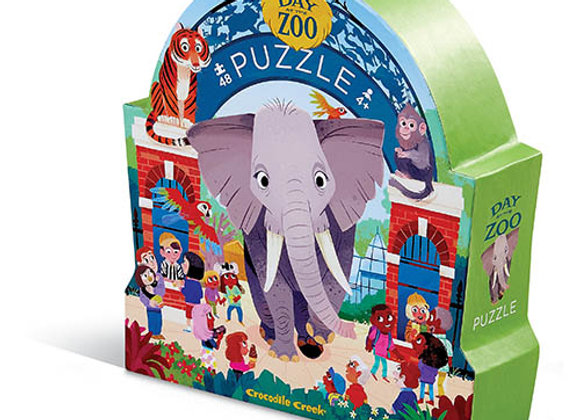 Puzzle 48 pièces Une journée au zoo - Crocodile Creek