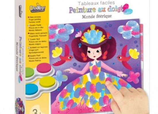 Peinture au doigt Le monde féerique - Dès 3 ans