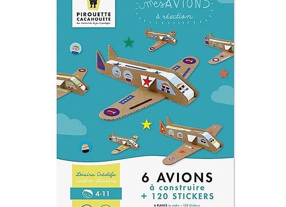 Kit créatif avions - Dès 5 ans - Pirouette-Cacahuète