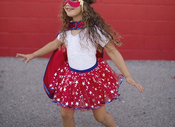 Super Héroïne : tutu, cape et masque 5-7 ans