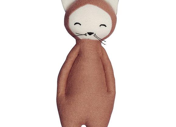 Hochet en coton bio renard - Fabelab